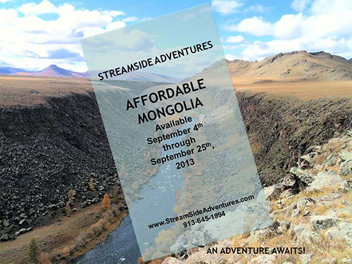 "StreamSide Adventures' ""Affordable Mongolia"" Adventure"